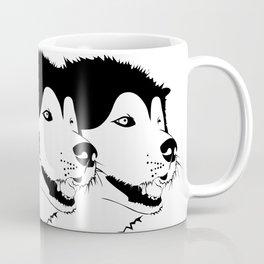Husky snow Coffee Mug
