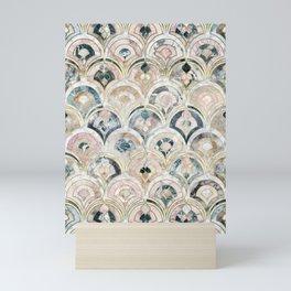 Art Deco Marble Tiles in Soft Pastels Mini Art Print