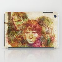 lord of the rings iPad Cases featuring The Lord of the Rings by Miriam Soriano