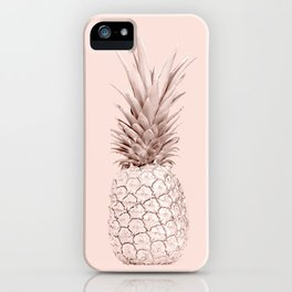 Pink Gold Pineapple iPhone Case