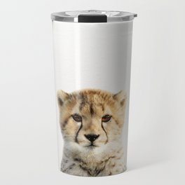 Baby Cheetah, Baby Animals Art Print By Synplus Travel Mug