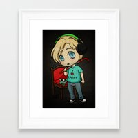 pewdiepie Framed Art Prints featuring Silent Pewds by CrystallineColey