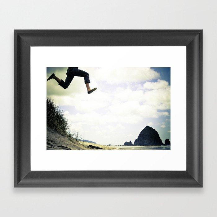 jump. Framed Art Print