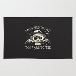 Too Weird To Live Too Rare To Die Rug