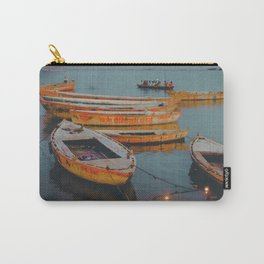 Magical boats floating on the river Ganges, India Carry-All Pouch