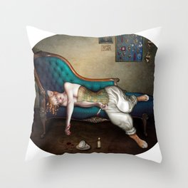 Gatta Morta Throw Pillow
