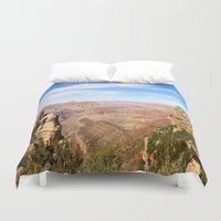 pacific rim Duvet Covers featuring South Rim Grand Canyon by Christiane W. Schulze Art and Photograph