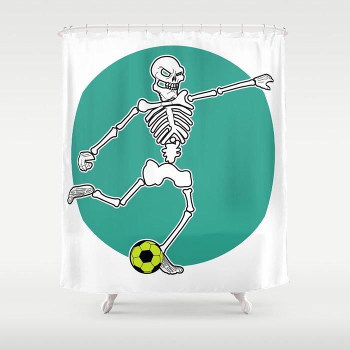 Calavera Soccer Shower Curtain