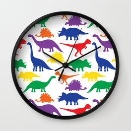 Dinosaurs - White Wall Clock