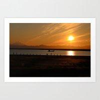 sunset alaska Art Print