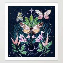Cicada Moon Art Print