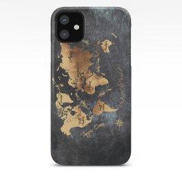 world map 147 gold black #worldmap #map iPhone Case