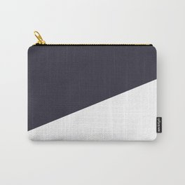 Urban Geometry Navy Blue + White Carry-All Pouch