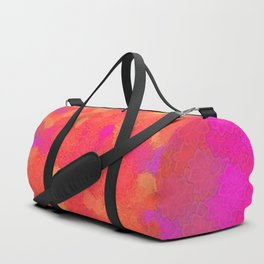 Ornamental-flower-pattern Duffle Bag