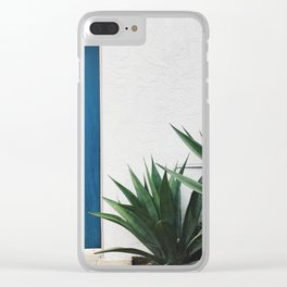 blue door Clear iPhone Case