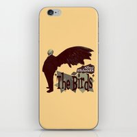 hitchcock iPhone & iPod Skins featuring Alfred Hitchcock     The Birds by Silvio Ledbetter