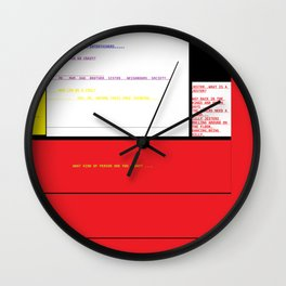 JOKER, JESTER, WHO ARE YOU? Wall Clock