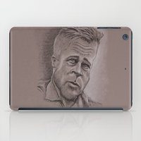 brad pitt iPad Cases featuring Brad by chadizms