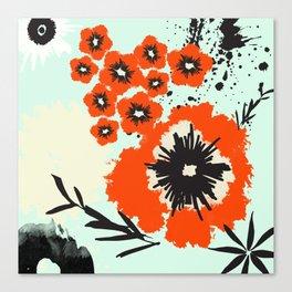 Asian Floral Modernized Canvas Print