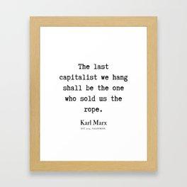 3   | Karl Marx Quotes | 190817 Framed Art Print