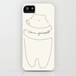 Love Yourself Bear iPhone Case