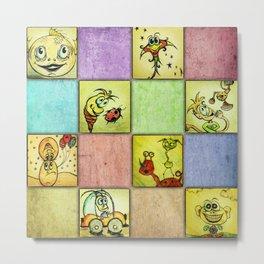 Lunchbox Napkin Art1 Metal Print