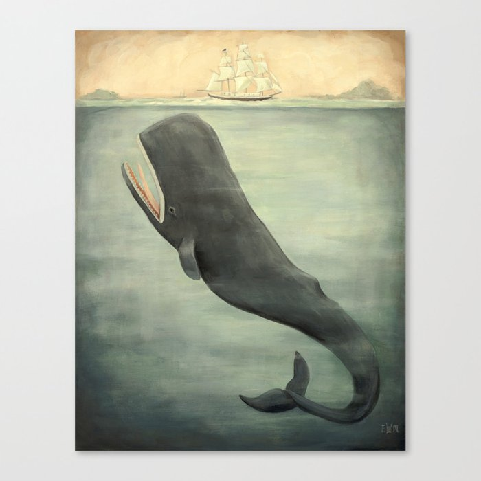 Leviathan Below Leinwanddruck