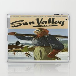 Vintage poster - Sun Valley Laptop & iPad Skin