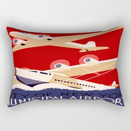 City of New York Airports Travel Rectangular Pillow