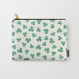 DANCING SHAMROCKS on cream Carry-All Pouch