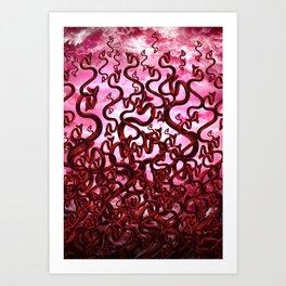 Snake Inferno Art Print