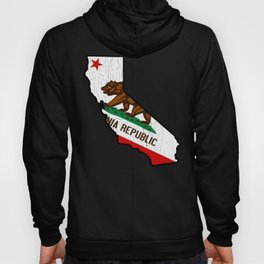 California Bear Flag (vintage distressed design) Hoody