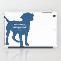 vonnegut iPad Cases featuring The Purpose by StephyLouPavlik