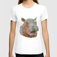 hippo T-shirts featuring abstract hippo by Ancello