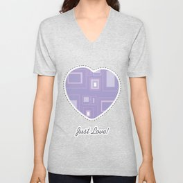 Abstract lilac background with squares Unisex V-Neck