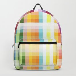 Multicolor Summer Grid Backpack
