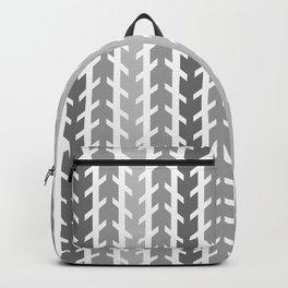 Gray Chevron Arrow Backpack