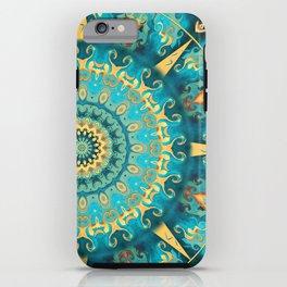 Caribbean Gold Mandala iPhone Case