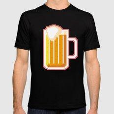 Pixel Beer Black MEDIUM Mens Fitted Tee