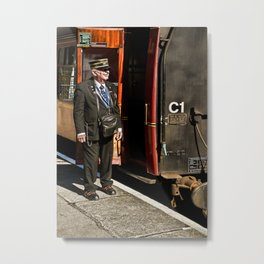 The Ticket Collector Metal Print