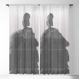 People will stare. Make it worth their while. Sheer Curtain