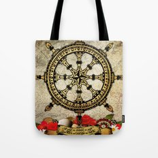 A Ship In Harbor Tote Bag