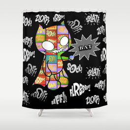 Onomatobat Shower Curtain