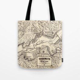 Vintage Map of Yosemite Valley (1879) Tote Bag