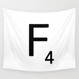Letter F - Custom Scrabble Letter Tile Art - Scrabble F Wall Tapestry
