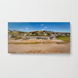 Seafront Cafe Metal Print