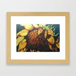 Sunflower Painting in Acrylic Framed Art Print