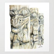 Haida Totems Art Print