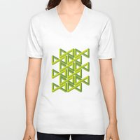 illusion V-neck T-shirts featuring Illusion by Isometric
