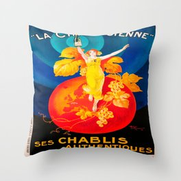 Vintage poster - La Chablisienne Throw Pillow